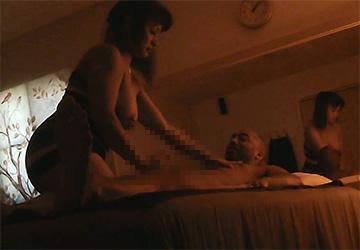 【マッサージ店盗撮動画】ムッチムチな身体のマッサージ嬢による性的サービスの様子