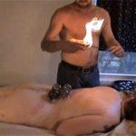 【マッサージエロ動画】ぽっちゃり体型の女性が全裸でカッピングの施術を受ける様子