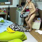 【素人盗撮動画】陰毛もドライヤーで乾かすタイプの若い女の子