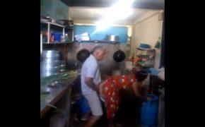 【個人撮影】料理をしている妻にムラっとした夫、そのまま台所で性行為に及ぶ