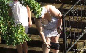 【水浴び盗撮動画】主に太った白人女性が十字を切って水に頭まで漬かる様子を隠し撮り!