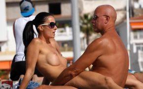 【ヌーディストビーチ盗撮動画】「際どいっ…でもっ…入ってる!」多分セックスしてるっぽい2人