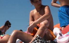 【ヌーディストビーチ盗撮動画】正にダイナマイト!なスタイルの女性