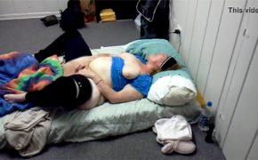 【民家盗撮動画】太ったおばちゃんがオナニーしてる様子を盗撮