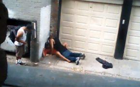 【路上売春婦盗撮動画】立ちんぼとそのまま路上で一発キメる動画