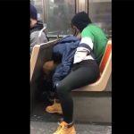 【街中盗撮動画】バス内で彼女にフェラチオさせているカップルをスマホ撮影