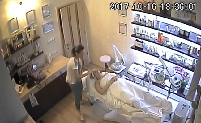 【リアルエステ店盗撮動画】脱毛サロンでアンダーヘアの手入れをしてもらう女性客
