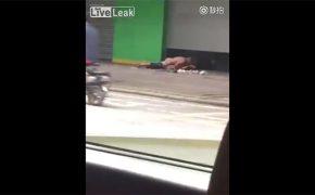 【青姦盗撮動画】真昼間の人が行き交う路上で普通にセックスしてる男女