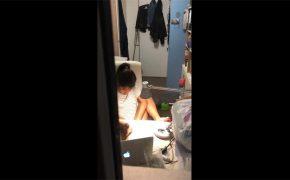 【民家盗撮動画】カーテンを閉め忘れた結果・・・自慰行為を窓から隠し撮りされてしまった若い女の子