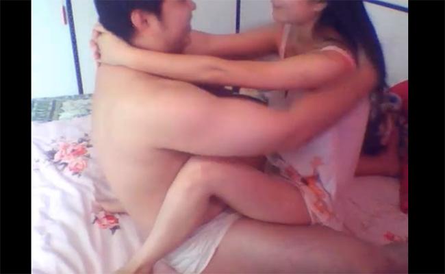 【Webcamハッキング動画】いちゃラブセックスを楽しむカップル
