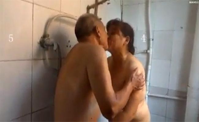【個人撮影】幸せなキスからはじまる老人2人の性行為