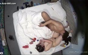 【ラブホテル盗撮動画】男女共にぽっちゃりなカップルが性行為をする様子
