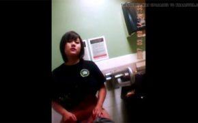 【トイレ盗撮動画】腹の肉とデカいケツが特徴的なぽっちゃり女子の排泄姿