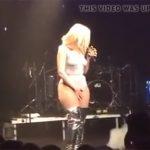 【海外ライブ動画】極薄レオタード?ボディーペイント?ヘアーが透けた衣装で歌う女性歌手