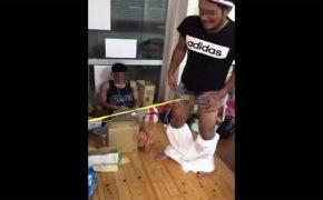 【DQNの日常シリーズ】金玉に洗濯ばさみをくっつけて引っ張り合う男達・・・