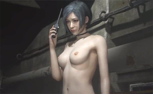 【動画有り】BIOHAZARD RE:2のクレア&エイダの全裸MODがエロ過ぎる!!