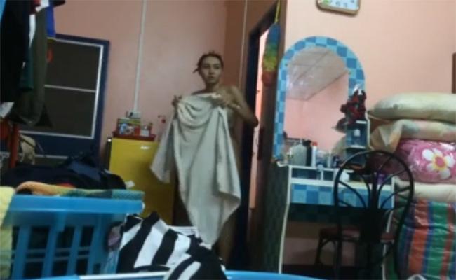 【民家盗撮動画】風呂上りなタイの若い女の子