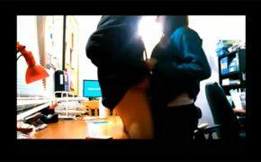 【セックス盗撮動画】チャラいEDMに合わせて腰を振る2人