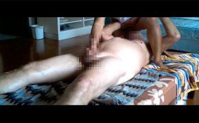 【フィリピンマッサージ盗撮動画】パンツを脱いでもらって顔面に跨ってもらう男性客