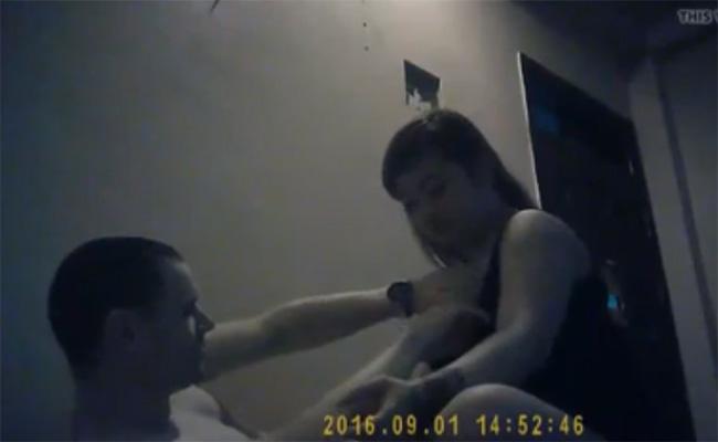 【中国マッサージ盗撮動画】ガタイが良い若い女の子によるマッサージ&手コキ
