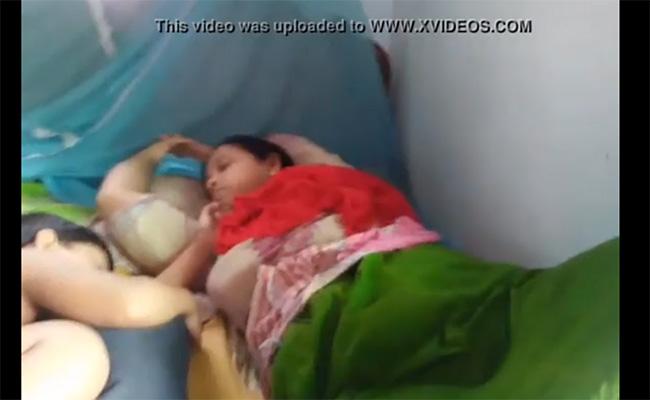 【民家盗撮動画】寝ている嫁のスカートをこっそりまくってマンコを隠し撮り