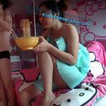 【ラブホ盗撮動画】例のキティーちゃんホテルにて、レズビアンカップルが性行為