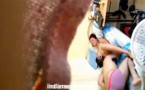 【民家盗撮動画】壁に空いた穴から隣の部屋のセックスを覗き見・・・