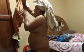 【民家盗撮動画】普通のオバちゃんの普通の風呂上り