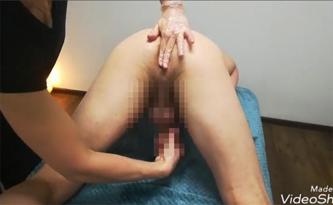 【ロシアマッサージ動画】お尻の穴に指を入れて前立腺を刺激する施術