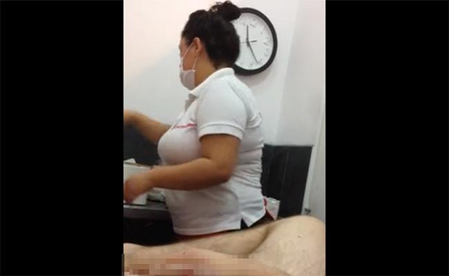 【脱毛サロン盗撮動画】マスクに白衣にゴム手袋・・・間違いなく健全なんだろうってお店で受けるブラジリアンワックス