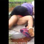 【路上喧嘩盗撮動画】「何でパンツ履いてないの?」マンコ丸出しになる黒人女性