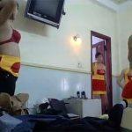 【着替え盗撮動画】お祭り?みんなでお揃いの衣装に着替える若い女性達