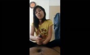 【ベトナムマッサージ店盗撮動画】服装も雰囲気もカジュアルな手コキの様子