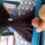 【隠し撮り】バスで前の座席に座っていた女性の髪にザーメンぶっかけるド変態
