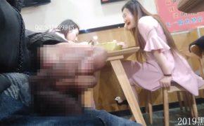 【露出狂盗撮動画】食事を台無しにされてしまったガンバレルーヤよしこ似の女性