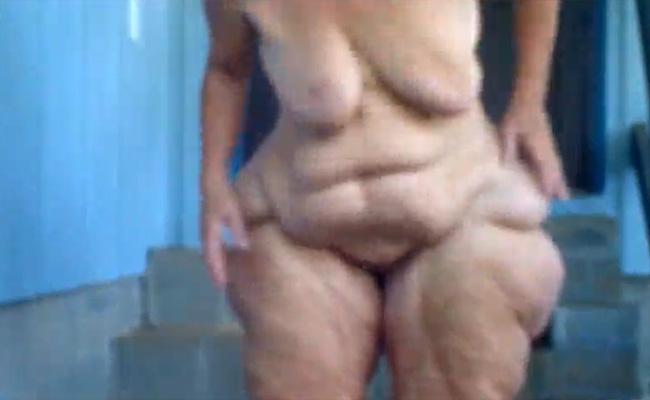 【老女エロ動画】セルライトとかそういうレベルをはるかに超越した肉体を持つお婆ちゃん