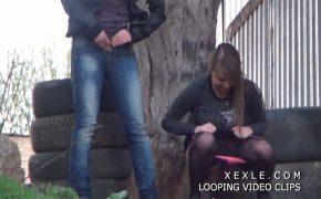 【野外オシッコ盗撮動画】若い女の子達が次々と用を足していく様子