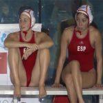 【水泳盗撮動画】M字で待機するスペインの女子水球選手
