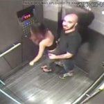 【エレベーター監視カメラ動画】こんなところで発情してしまったハゲ彼氏