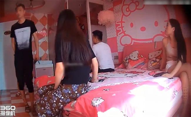 【ラブホ盗撮動画】インスタ映えしそうなキティーちゃんホテルに泊まりにきた複数のカップル