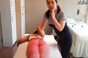 【指圧マッサージ動画】そそるお尻の韓国お姉さんが激痛マッサージで悶絶する様子